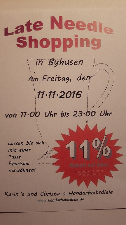 Einladung zum Late Needle Shopping in Byhusen